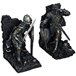 Design Toscano Arthurian Knight Bookend in Two-Tone Metallic (Set of 2)