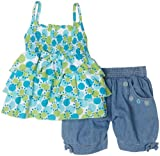 Little Lass Girls 2-6x Dot Ruffle 2 Piece Short Set