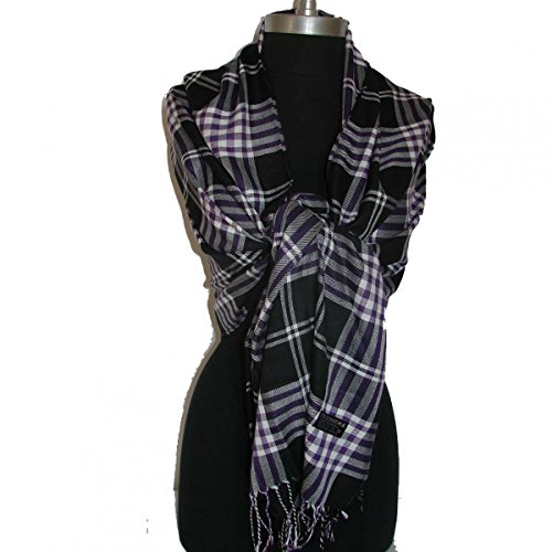 Black_New Womens Soft Warm Scarf Plaid (US Seller) (Diamond Black Ice Bow compare prices)