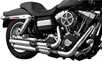 Kuryakyn Power Cell Staggered Dual Exhaust System - Black and Chrome , Color: Chrome 518