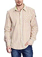 Northland Professional Camisa Hombre Peter (Rosa / Beige / Blanco)