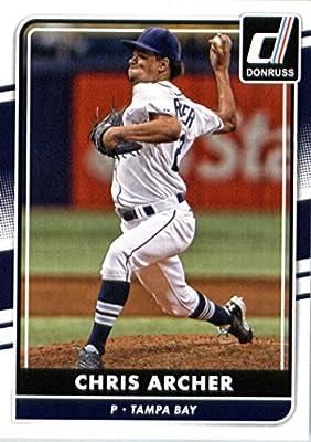 2016 Donruss #152 Chris Archer Tampa Bay Rays Baseball Card