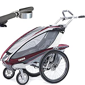 Thule Chariot CX 1 Child Carrier with Strolling Kit and Cup Holder - Burgundy