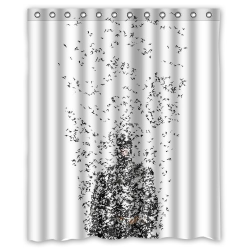 Custom Unique Design Cool Cartoon Anime Superhero Batman Waterproof Fabric Shower Curtain, 72 By 60-Inch back-521898