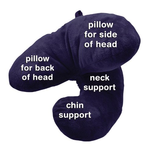 J Pillow, Travel Pillow - Winner of British Invention of the Year 2012/2013 (Navy)