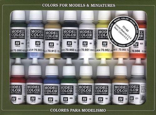 Vallejo Basic USA Colors Paint Set, 17ml (Model Paint compare prices)