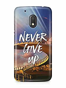 YuBingo Never Give Up Designer Mobile Case Back Cover for Motorola G4 Play