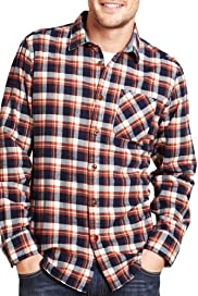 North Coast Brushed Pure Cotton Checked Shirt [T25-5969N-S]