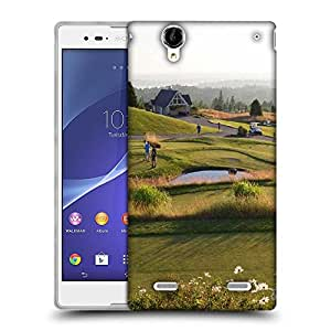 Snoogg People Playing Golf Designer Protective Phone Back Case Cover For Sony Xperia T2 Ultra