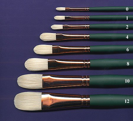 Silver Brush 1003-4 Grand Prix Premier Long Handle Hog Bristle Brush, Filbert, Size 4 (Silver Brush Grand Prix compare prices)