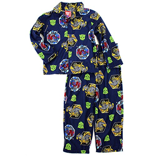 Transformers Boys Blue Flannel Pajamas