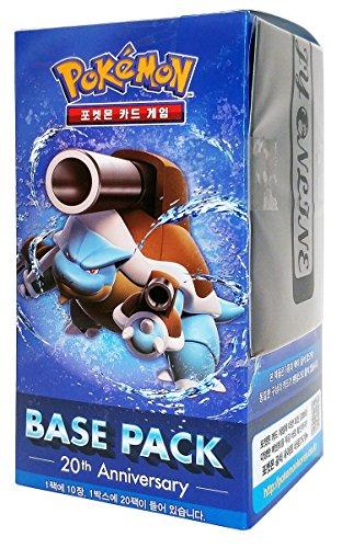 Pokemon Karte XY BREAK Booster Pack Box 20 Packs in 1 Kasten 20th Anniversay-Base pack : Mega Turtok Koreanisch Ver TCG + 3pcs Premium Card Sleeve