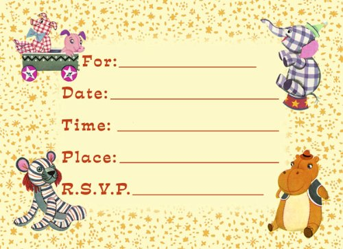 Circus Birthday Party Invitations – Carousel Party Invitations