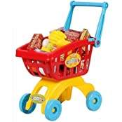 Big Dragonfly High Quality Fun Childrenfs Deluxe Shopping Cart Kits With Handle & Play Food & Fruits Best Pretend...