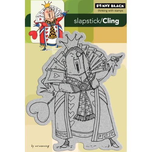 Penny Black Cling Rubber Stamp 4X6 Queen Of Hearts Arts