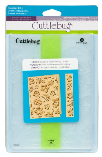 Cricut Cuttlebug Embossing Folder, Hawaiian Shirt, 5-Inch by 7-Inch