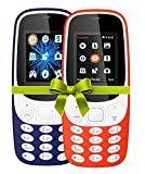 #10: I KALL 4.57 cm (1.8 Inch) Mobile Phone Combo - K3310 (Dark Blue& Red) With feature of currency detector