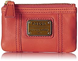 Fossil Emory Zip Coin Purse, Papaya, One Size