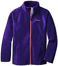 Columbia Girl\'s Dotswarm II Fleece Full Zip Jacket, Hyper Purple, X-Large