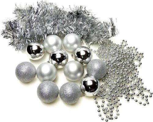 Christbaumschmuck 14st im Set 93367 Silber