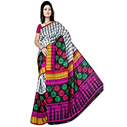 Pawan Tex Bhagalpuri sree for women's (Bhagalpurimix07_multi color)