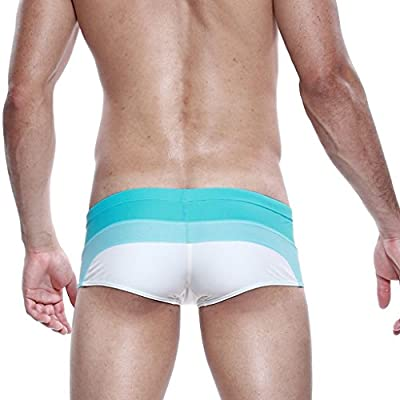 Koson-Man Men's Charming Summer Swimming Strips Underwear Swimwear Briefs Trunks