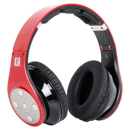 Bluedio Model R Revolution 8 Tracks Built In Mp3 Player Hi-Fi Rank Wireless & Bluetooth Headphones (Red)