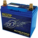 Soundquest SQB2000 Power Battery AGM Design High-Performance Energy Cell with Removable Brass Posts