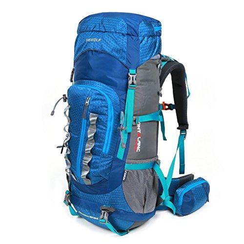 escalade extérieur sac / sac à dos / hommes et les femmes sac à bandoulière / packages de voyage randonnée de camping imperméables-bleu 55L