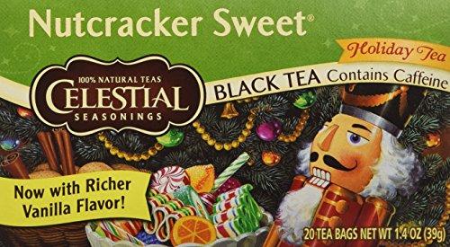 Celestial Seasonings 414284 Celestial Seasonings Black Tea - Nutcracker Sweet Holiday Tea - Contains Caffeine - Case of 6 - 20 Bags