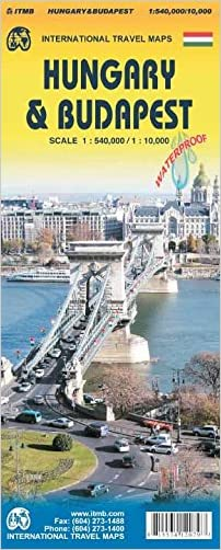 Hungary & Budapest Travel Reference Map 1:540,000/10,000
