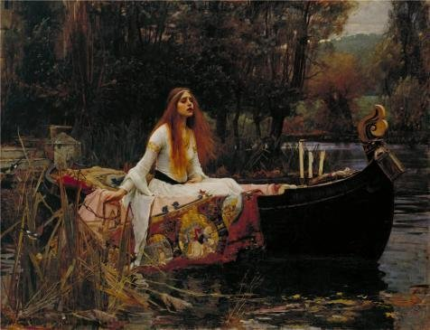 Oil Painting 'John William Waterhouse - The Lady Of Shalott,1888' Printing On Perfect Effect Canvas , 24x31 Inch / 61x79 Cm ,the Best Powder Room Artwork And Home Gallery Art And Gifts Is This Cheap But High Quality Art Decorative Art Decorative Prints On Canvas (Carrel Dishes compare prices)
