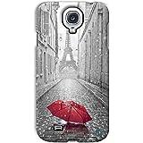 YP Red Umbrella In Paris Design Hard Back Case Cover For Samsung Galaxy S4 Mini