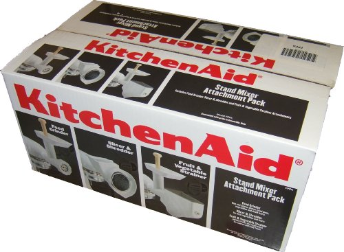 KitchenAid Stand mixer Accessory Pack with food grinder, shredder/slicer and strainer for all KitchenAid mixers