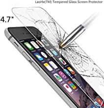 iPhone 6s Screen Protector, LaoHe(TM) Premium Tempered Glass Screen Protector Film for Apple iPhone 6 and iPhone 6s Newest Model 4.7-(1Pack)