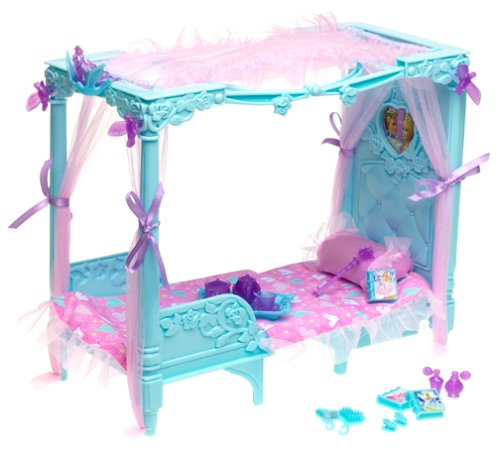 Barbie Fantasy Tales Collection - Musical Canopy Dream Bed And Throne - Fit For A Princess! front-764249