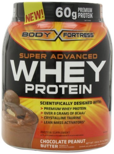Body Fortress Whey Protein Powder, 31.2 Ounces (Chocolate Peanut Butter, 2 Pack) by Body Fortress