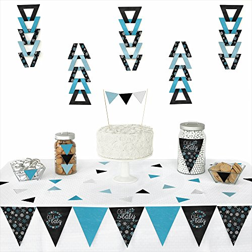 Oh Baby - Winter - Triangle Baby Shower Decoration Kit - 70 Pieces front-669348