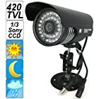 SecurityIng - Black Housing 420 TVL 1/3 Sony CCD Colorful Night Vision Indoor / Outdoor Bullet CCTV Security Camera