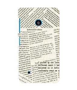 Fuson 3D Printed News Paper Designer Back Case Cover for Nokia Lumia 530 - D598