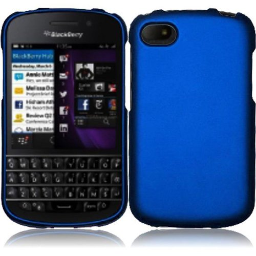 Cell Accessories For Less (Tm) For Blackberry Q10 Rubberized Cover Case - Blue // Free Shipping By Thetargetbuys