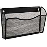 Rolodex Mesh Collection Single-Pocket Wall File, Black (21931)