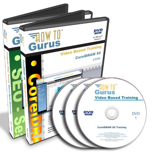 Corel Coreldraw X6 & Seo Search Engine Optimization Tutorial Training On 3 Dvds, 18 Hours In 319 Video Lessons. Computer Software Video Tutorials.