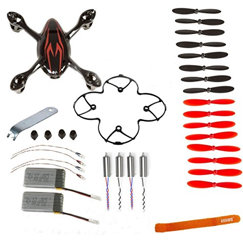 AVAWO for Hubsan X4 H107C 8-in-1 Quadcopter Black/Red