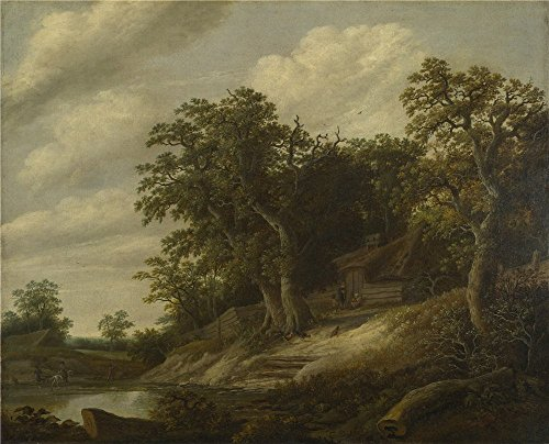 'Cornelis Decker A Cottage Among Trees On The Bank Of A Stream ' Oil Painting, 16 X 20 Inch / 41 X 50 Cm ,printed On High Quality Polyster Canvas ,this Imitations Art DecorativePrints On Canvas Is Perfectly Suitalbe For Living Room Decoration And Home Gallery Art And Gifts