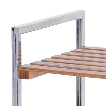 K2m 48433 cabinet cabinet de rangement en bambou for Cabinet pour salle de bain