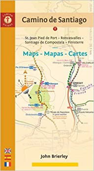 Download book Camino de Santiago Maps - Mapas - Cartes: St. Jean Pied de Port - Roncesvalles - Santiago de Compostela - Finisterre (Spanish Edition)