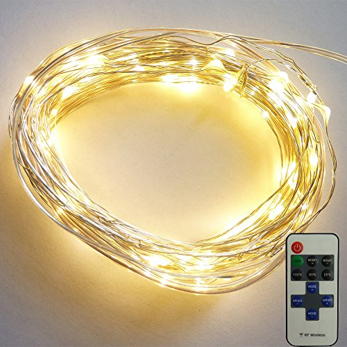 Long String Lights Indoor : La Farah Indoor Copper Wire String Lights 39ft Long 120 Mini LED Starry Light with Ac Adapter ...