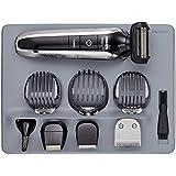 Philips QG3380/16 - Set de arreglo personal Serie 7000 resistente al agua con accesorios para barba, orejas, cejas y nariz. Incluye ocho accesorios, peana de almacenaje y bolsa de transporte