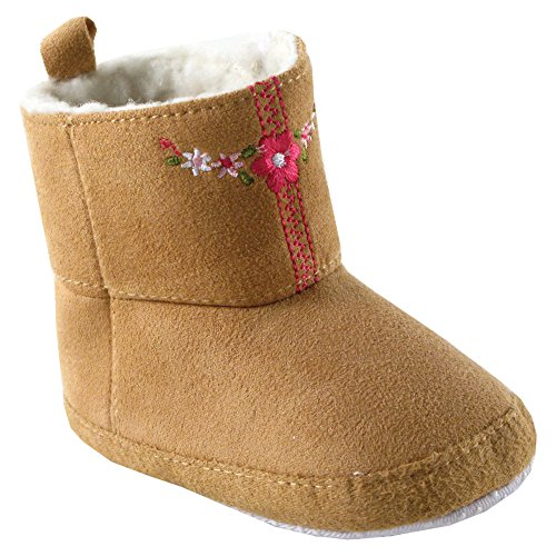 Luvable Friends Embroidered Winter Faux Suede Baby (Infant), Beige, 12-18 Months M US Infant